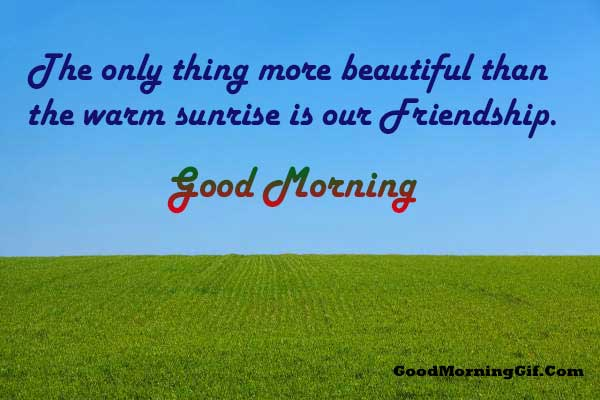 Good Morning Msg for Best Friend
