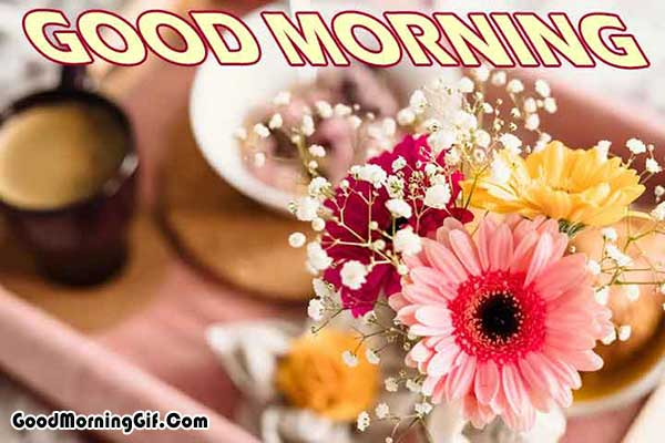 Good Morning Wishes with Flowers Images for Whatsapp