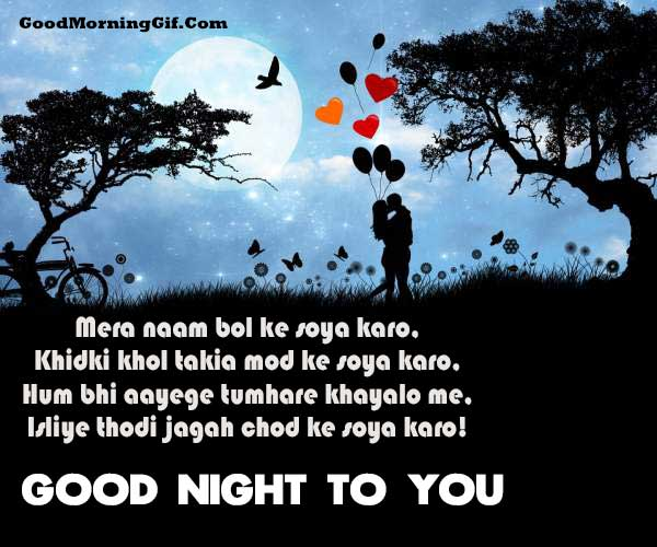 Good Night Shayari Images for lover