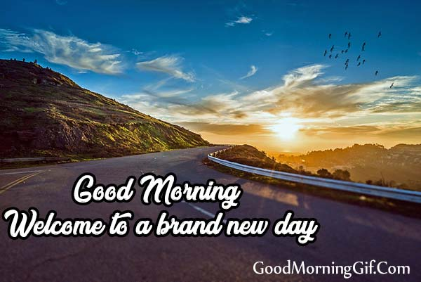 Good Morning welcome to a brand new day