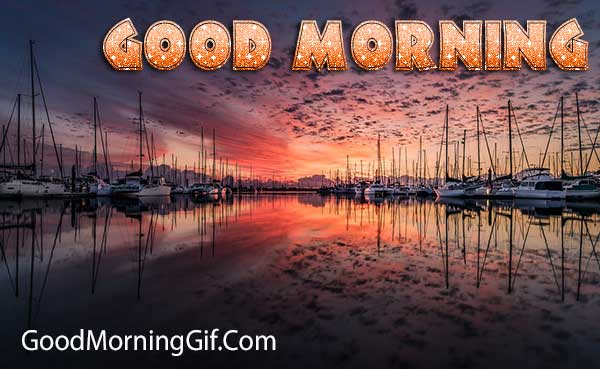 Good Morning with Sunrise Image